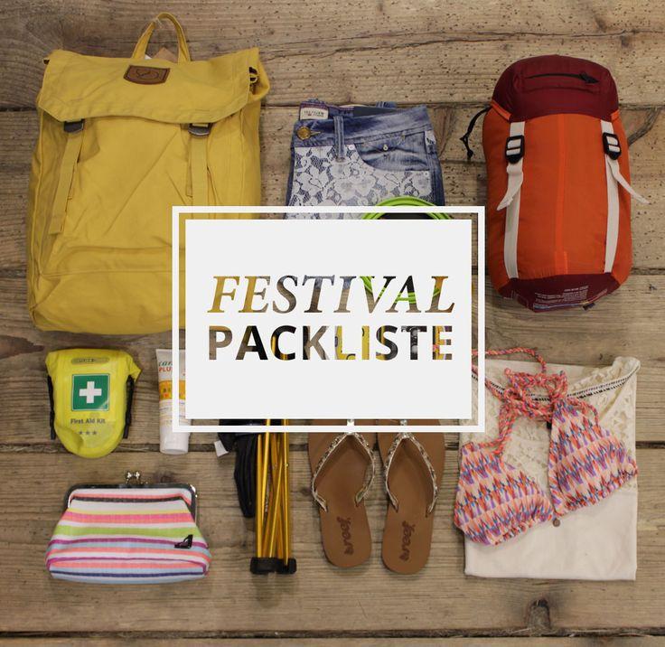 Was ihr auf eurer Festival-Packliste keinesfalls vergessen solltet #packliste #festival #whatsinyourbag