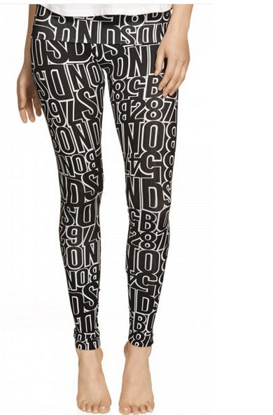 Cool black and white print active leggings from BONDS. Monochrome is awesome because you can still go to town with brights in your ensemble. http://fave.co/1nTgCCs