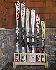 Ski rack, Ski and Indoor on Pinterest