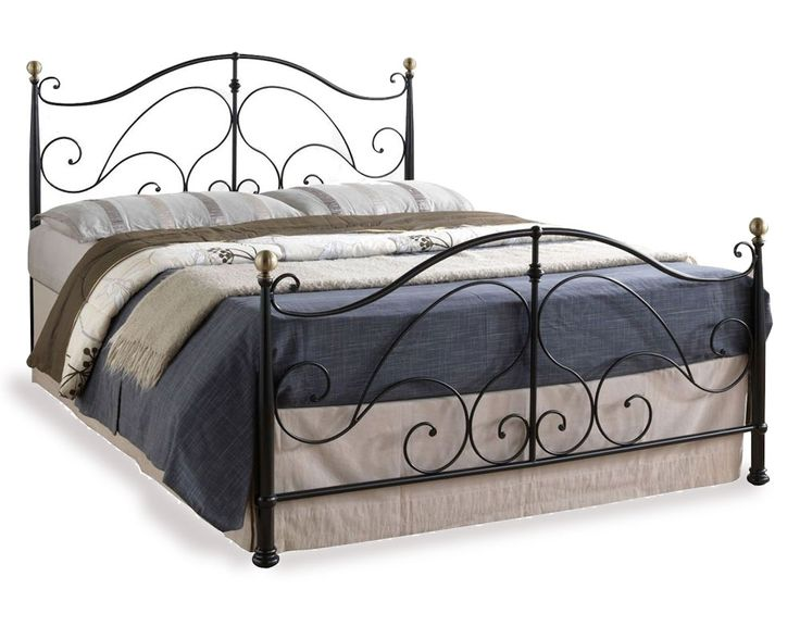 Romano Black Double Bed £164.95. Thebedwarehousedirect.com