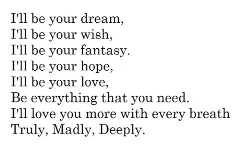 The 25 Best Ideas About Truly Madly Deeply On Pinterest Deeply In Love Madly In Love And So