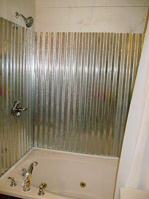 Tin Shower Tub Surround And Shower Surround On Pinterest