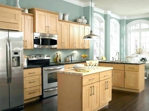 Natural Oak Cabinets Oak Cabinet Kitchens Captivating Kitchen Color