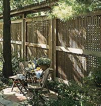 The term latticework refers to any decorative pattern made with narrow, thin strips of wood.
