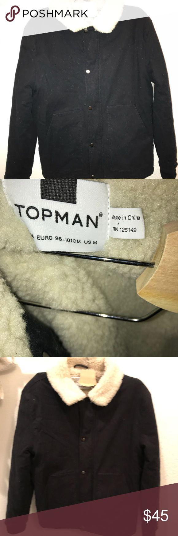Topman jacket Black button up Topman jacket men's size M NWT Topman Jackets & Coats