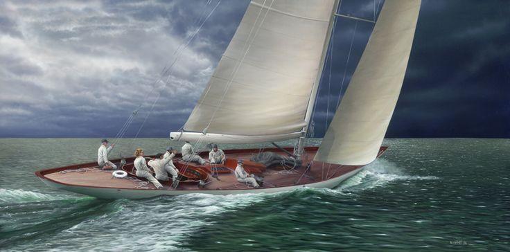 Eye Of The Storm, Acrylic Painting, N. Hamelin