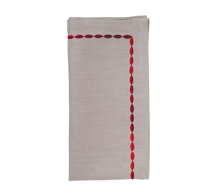 CORDED OMBRE NAPKIN IN NATURAL & PLUM