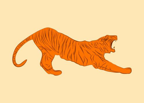 tiger vector, aggression, aim, animal, art, cartoon, club, company, design, emblem, enemy, graphic, head, hunt, hunter, icon, illustration, isolated, lazy