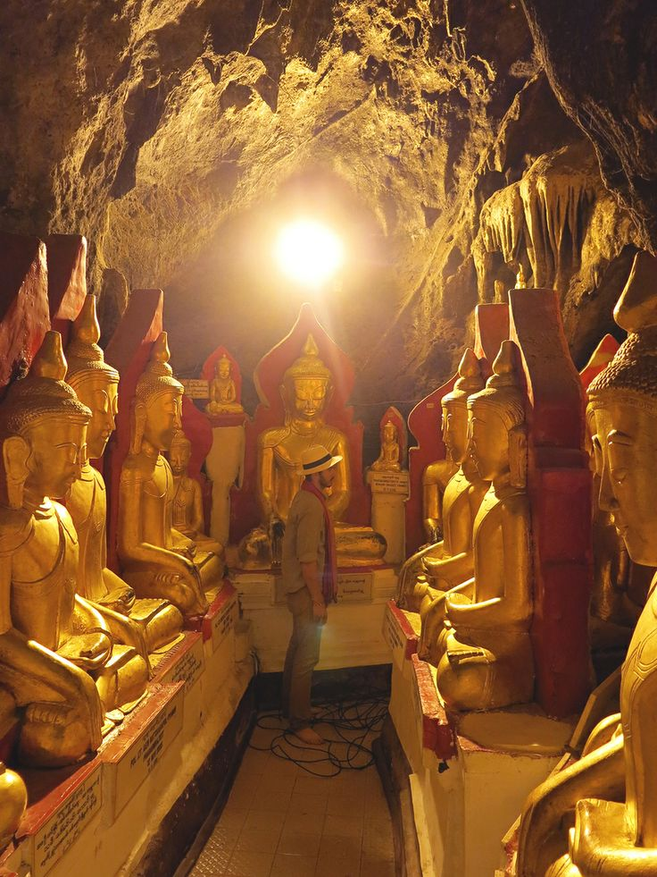 Just looking around a cave filled with thousands of golden Buddhas... Shwe U Min Pagoda // Pindaya, Myanmar // travel // Burma // bucket list // must see places // natural wonders