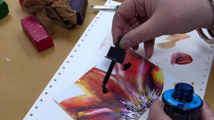 Encaustic Academie Euch Monika Romer wie Ihr mit dem Maleisen schöne, bunte Blumen für Geschenkkarten erstellen könnt. Mehr Infos unter: www.encaustic-aca...