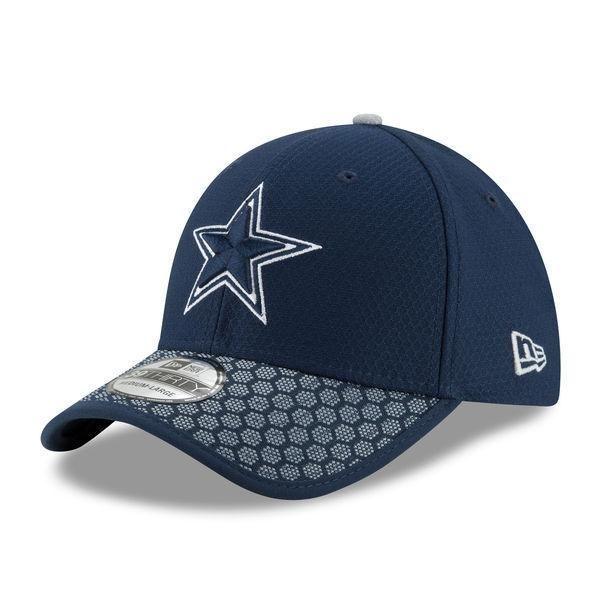 Men s Dallas Cowboys New Era Navy NFL17 Sideline Official 39THIRTY Flex Hat b37451d1e