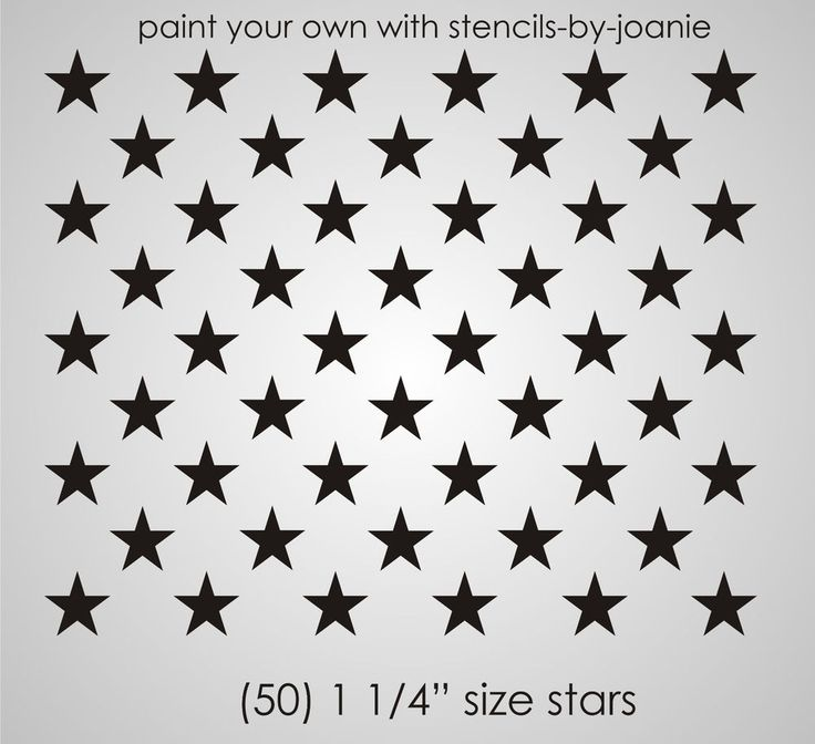 Patriotic STENCIL 1.25 inch STARS Proud American Flag Country Art Signs U Paint #DesignsbyJoanie