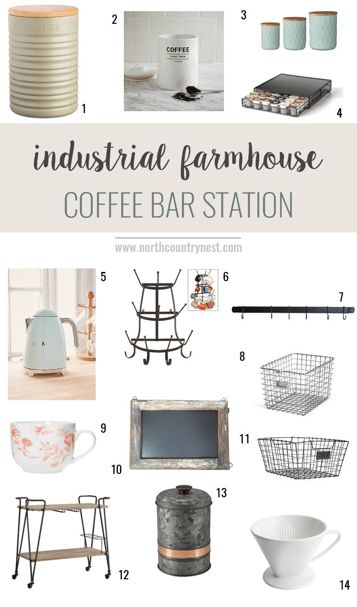 Industrial Farmhouse Coffee Bar Ideas