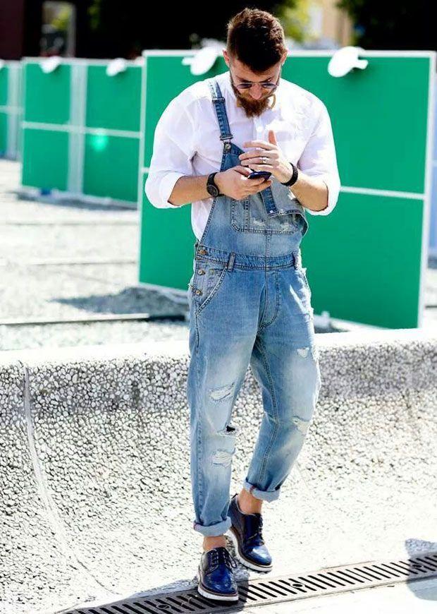 Macacão Jeans Masculino: Fotos e Modelos