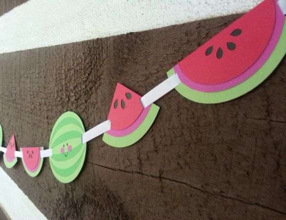 6ft Watermelon Birthday Party Garland by Kirascollection on Etsy