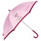 Wat een lieve roze paraplu 3 Happy Friends. Hiermee lopen alle meisjes graag in de regen! Bestel snel op www.sigikidshop.nl.