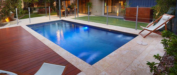Provincial - 6.7m x 3.2m, 1.1m - 1.76m depth. http://www.sapphirepools.com.au/swimming-pools/provincial/