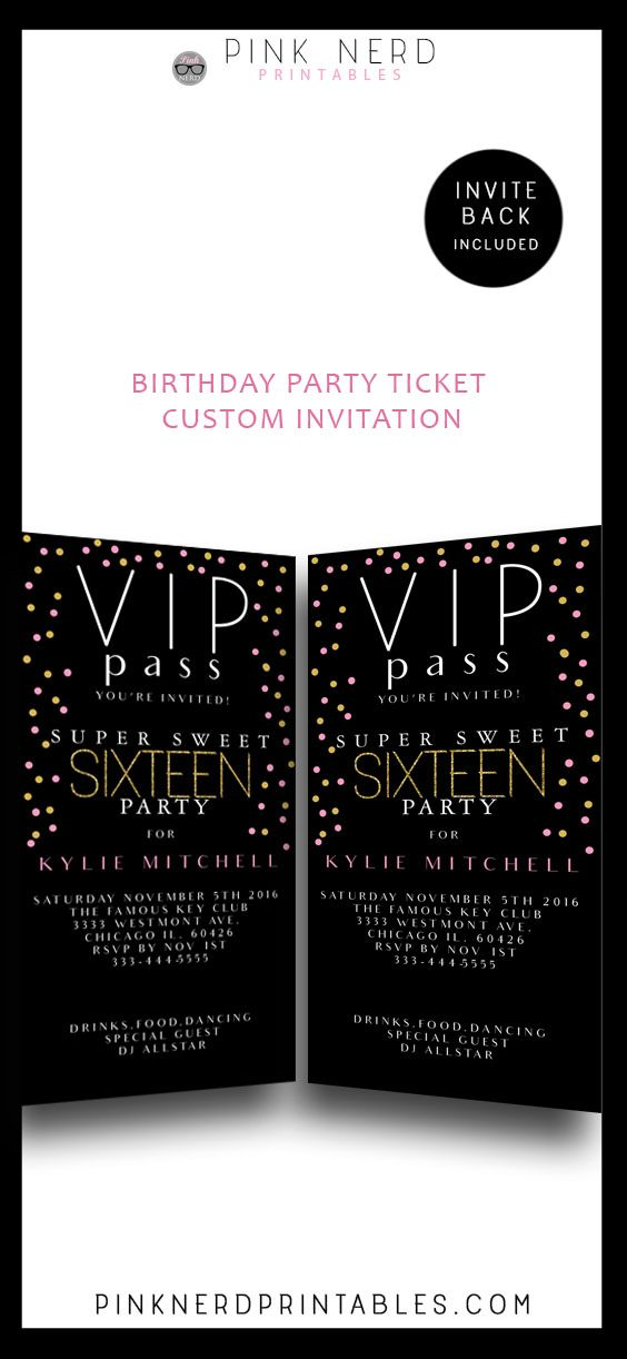 11 best Cheap invitations DIY printables images – Printable Sweet 16 Birthday Invitations