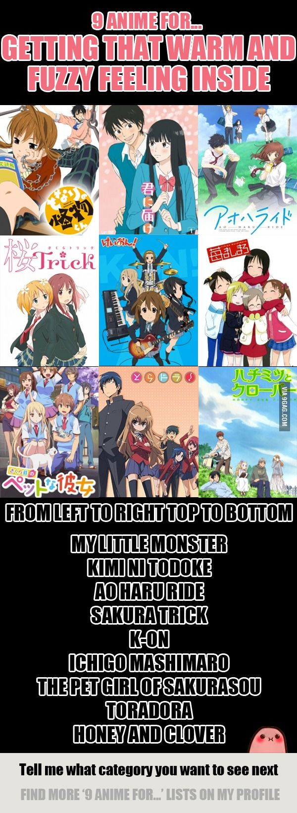 9 Anime For Getting That Warm and Fuzzy Feeling Inside - 9GAG