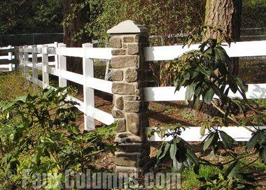 13 best design ideas fence posts images on pinterest for River rock columns