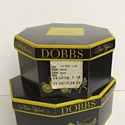 Two Vintage Dobbs Hat Boxes