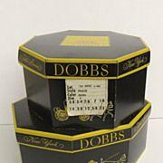 Two Vintage Dobbs Hat Boxes