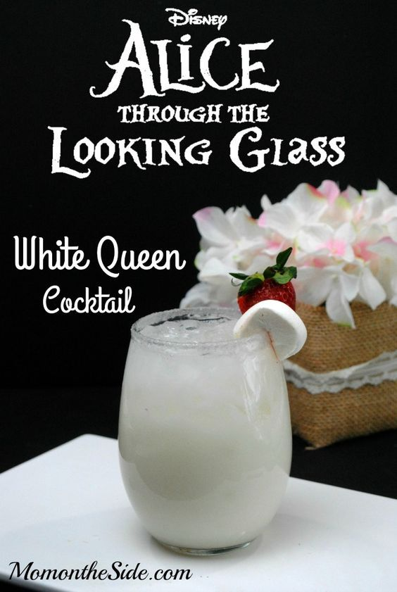 White Queen Cocktail Inspired by Alice Through the Looking Glass: