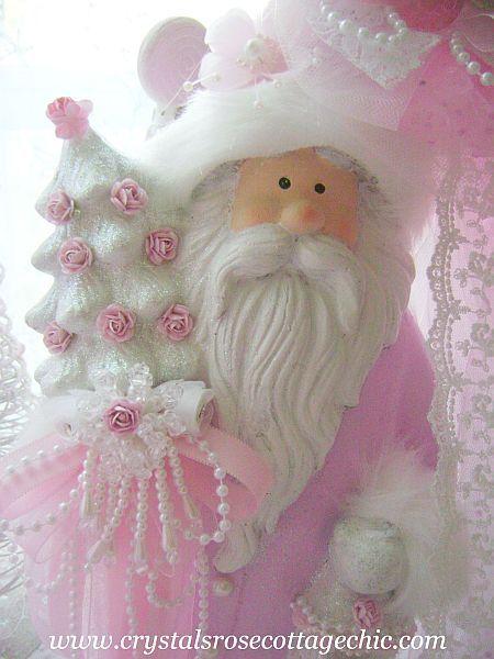 Shabby Chic Pink Victorian Santa