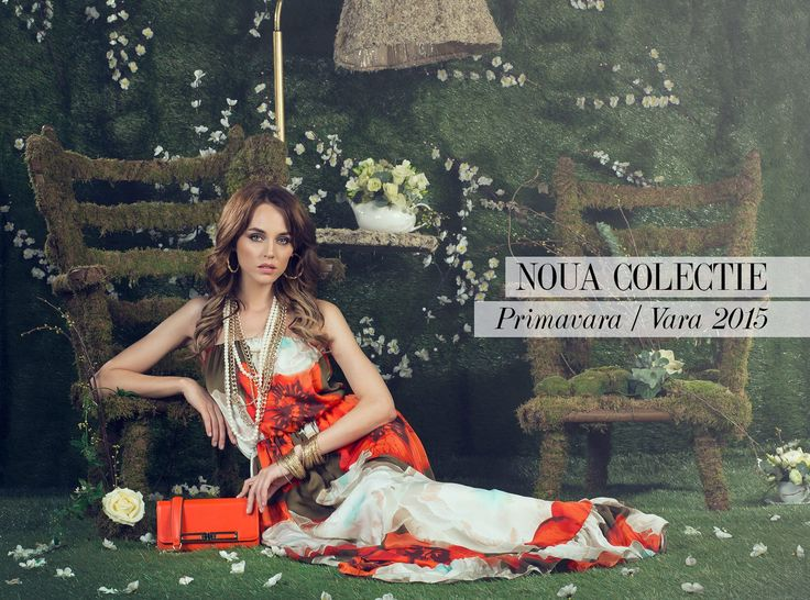 www.nissa.com   #nissa #new #collection #ss2015 #pv2015 #pictorial #model #setup #dress #romantic #floral #green #beautiful #red #accessories