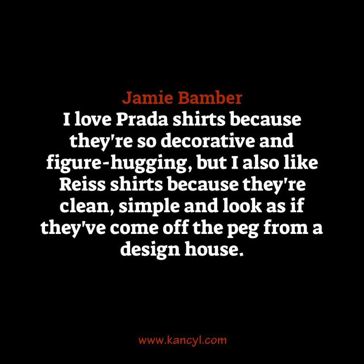 """I love Prada shirts because they're so decorative and figure-hugging, but I also like Reiss shirts because they're clean, simple and look as if they've come off the peg from a design house."", Jamie Bamber"