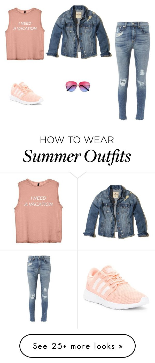 """""""Just long walks outfit"""" by lu018-1 on Polyvore featuring Hollister Co., rag & bone and adidas"""