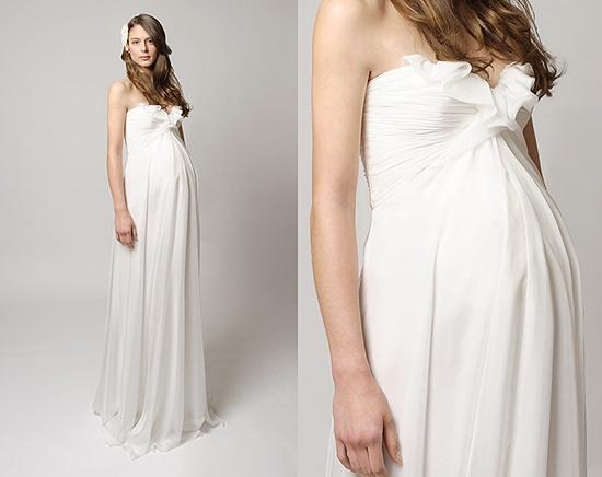 Maternity wedding - bridal dress - Tina Mak gown
