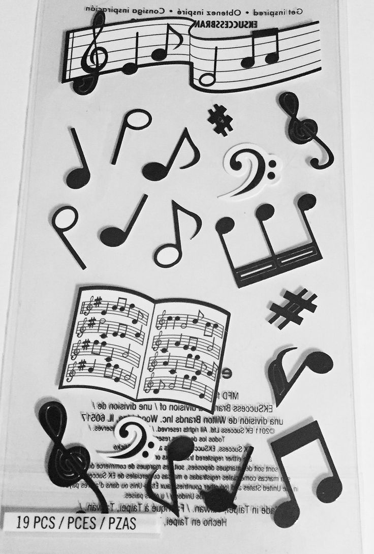 Musical Notes Scrapbooking Stickers -scrapbooking page ideas, scrapbook ideas, musical scrapbook stickers, music notes, by sweetpeacejewelry on Etsy