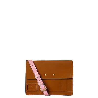 Orla Kiely | UK | Bags | SALE - Bags | Pocket Panel Leather Agatha Satchel (16ABPPA519) | Brown