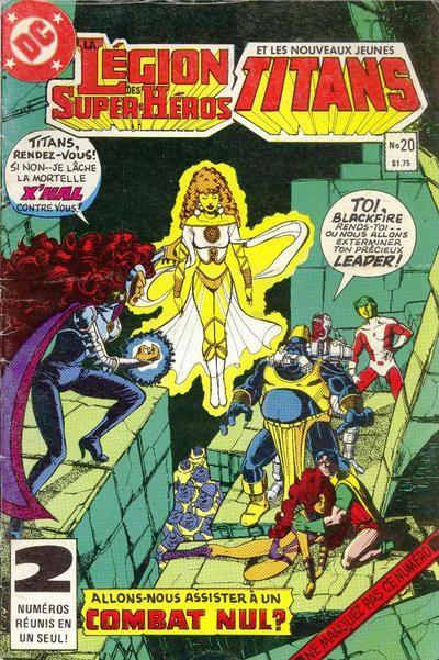 Cover for La Légion des Super Héros et les Nouveaux Jeunes Titans (1984 series) #20