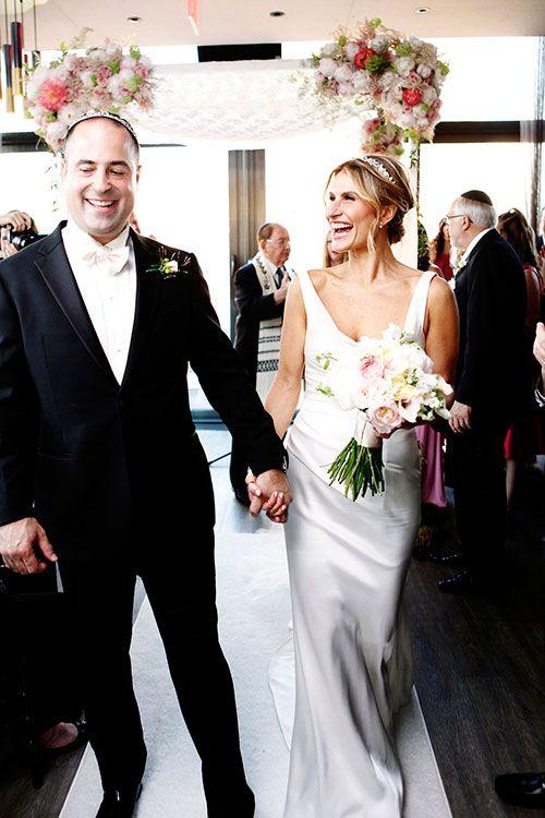 "Lauren and Josh they said ""Yes, I do"" in New York City. |  Magazine: Brides Wedding Planner: Oren Cove Floral Design: Mimi Brown Studio Photographer: Belathee Photography |  #lesposedigio #bridaldress #madeinitaly | www.lesposedigio.com"