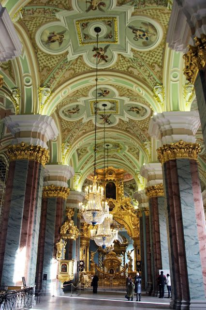 St. Petersburg. St. Petersburg. Cathedral of Peter and Paul Fortress Interior