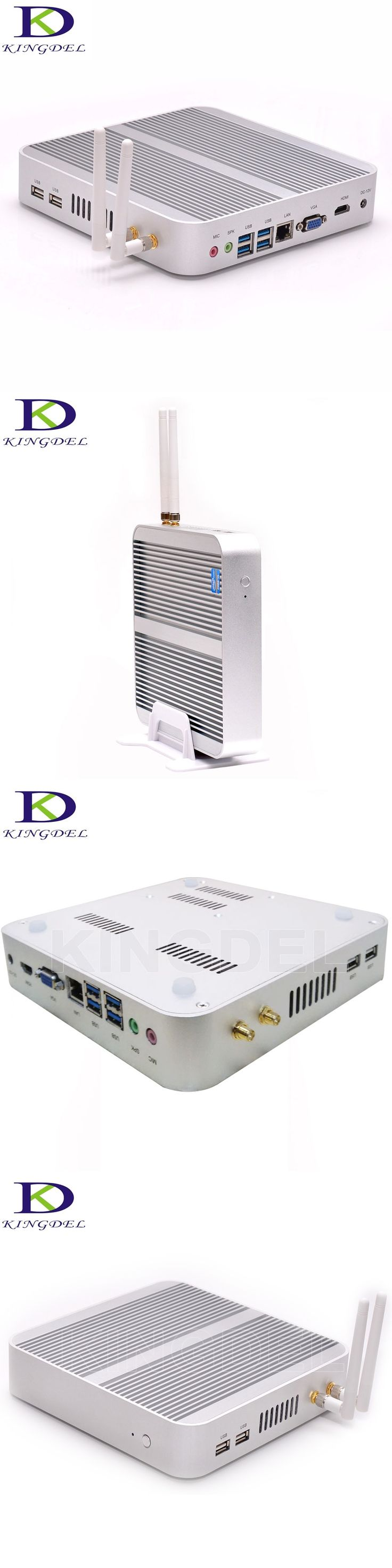 3-Years-Warranty Fanless Industrial Mini PC i5 4200U Dual Core HTPC TV Box VGA HDMI Intel HD Graphics 4K 1000M LAN Mini Computer