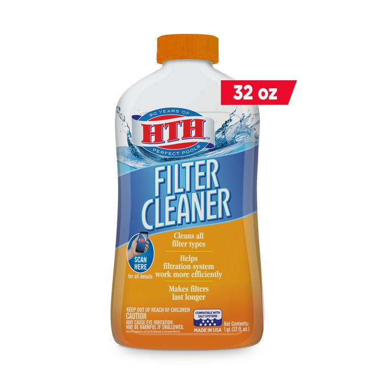 Hth pool filter cleaner to clean cartridge sand or de