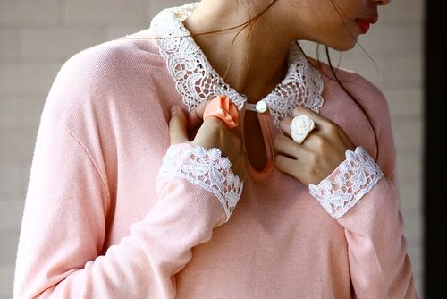 Crochet Collar and Pastel