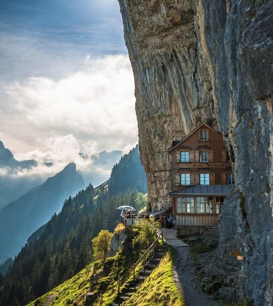 Aescher Hotel; Appenzellerland, Switzerland