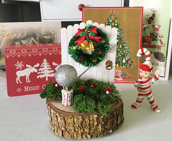 Enchanted Christmas  magical gifts  Fairy Doors for tree