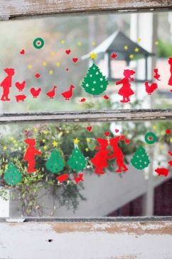 Julpynt - Gammaldags fönsterdekorer