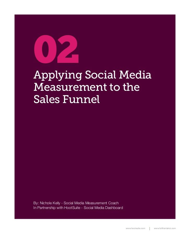 Applying Social Media Measurement to the Sales Funnel by Hootsuite via slideshare