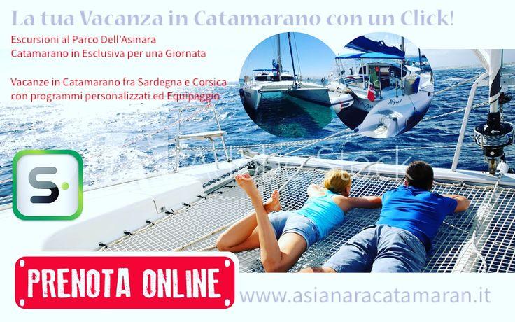Prenota ora la tua #esclusiva giornata in #catamarano! Pagamenti sicuri con #paypal o carta, disponibilità immediata e #helpDesk sempre operativo! #prenotaOra #asinaracatamaran #miguelcatamaran