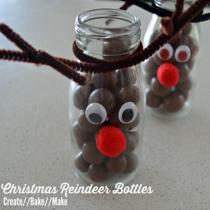 I'm also planning to give some of these cute Christmas reindeer bottles I came across on Pintrest.