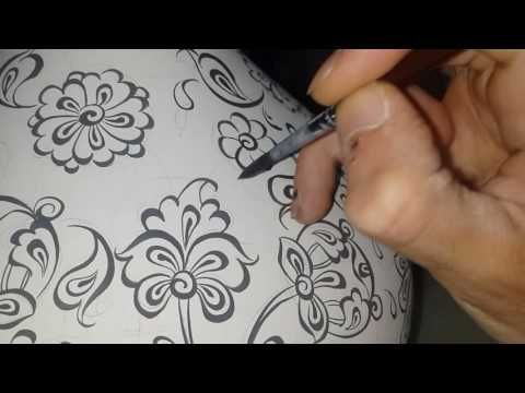 Brave Brush - Çini Tahrirleme - 17 (10x10 cm karo çizim) - YouTube
