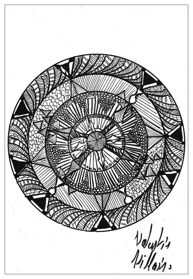 187 best Mandalas Adult Coloring pages images on Pinterest | Adult ...