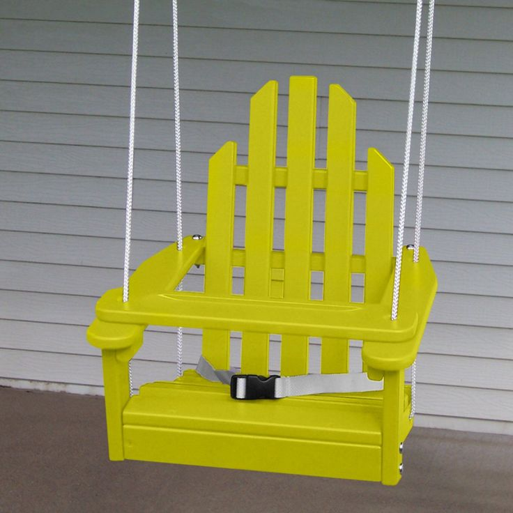 Little ones will love safely swinging on the porch in this fun Adirondack chair, available in seven colors. Click above to get one.