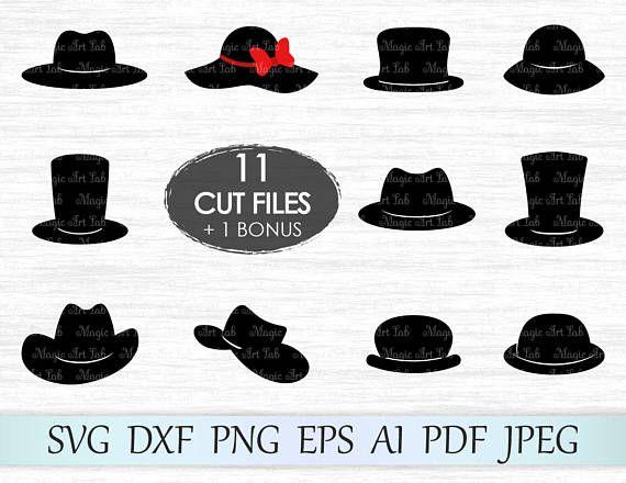 Top Hat Download Top Hat Clipart Digital Download Top Hat SVG Top Hat Cut File Cricut Files Instant Download Top Hat PDF
